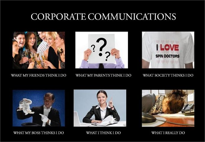 Impression Of A Corporate Communications Specialist
